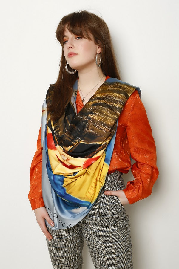 Smarty Mimi Signature Shield Silk Scarf