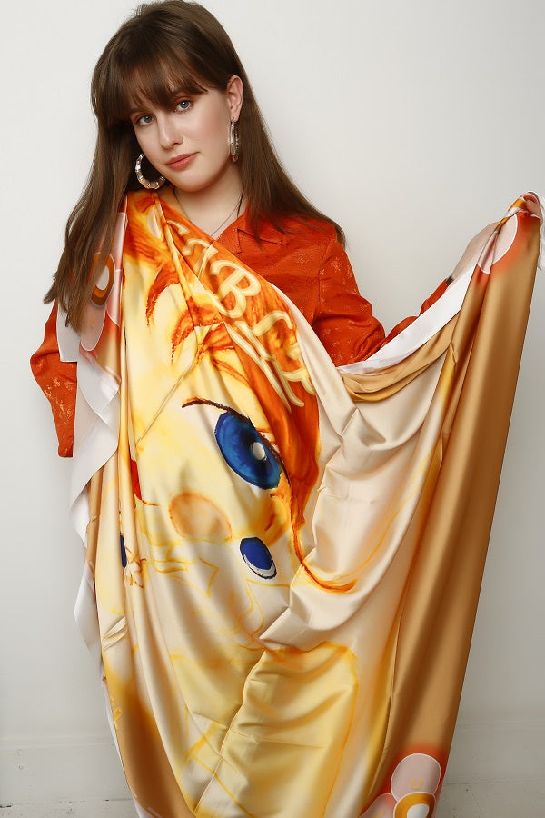 Posh Zena Signature Shield Silk Scarf