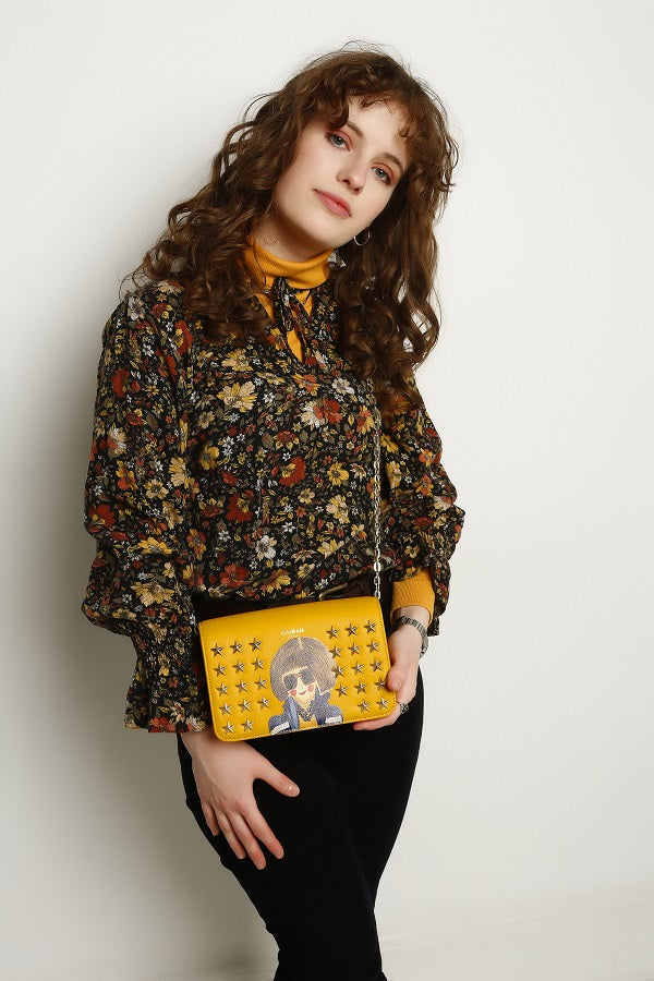 Smarty Mimi Mustard Yellow Crossbody