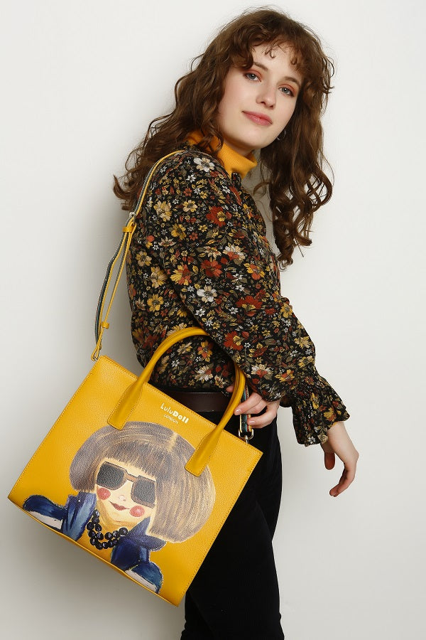 Smarty Mimi Mustard Yellow Tote