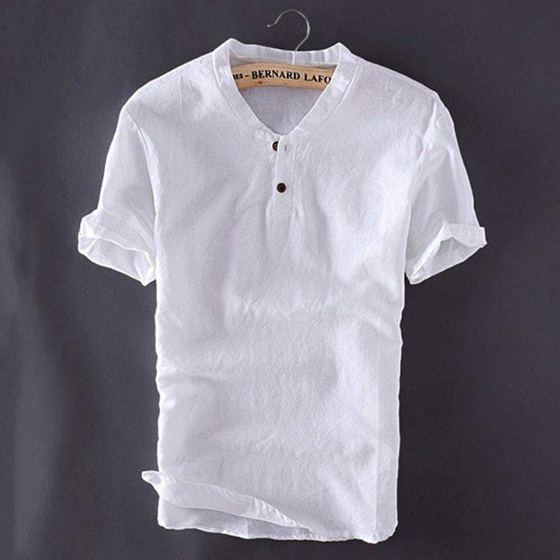 Contemporary Summer Linen Shirts (3 colors) - RinmakStyle