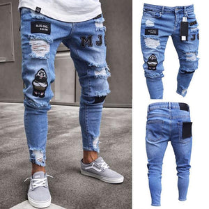 Stretchy Ripped Jeans (3 colors) - RinmakStyle