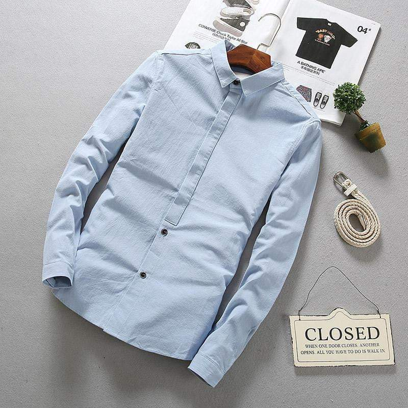 Contemporary Linen Shirts (3 colors) - RinmakStyle