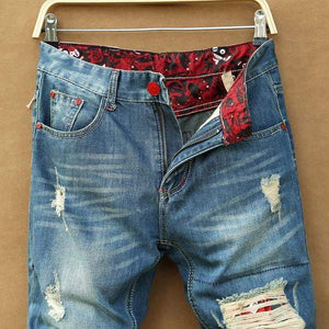 Men's Fashion Retro Ripped Jeans - RinmakStyle