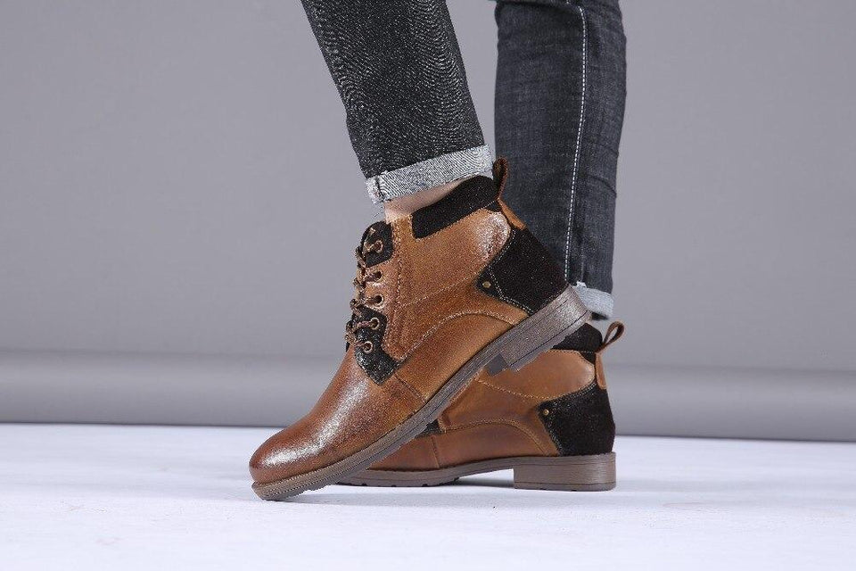 Leather Winter Boots - RinmakStyle