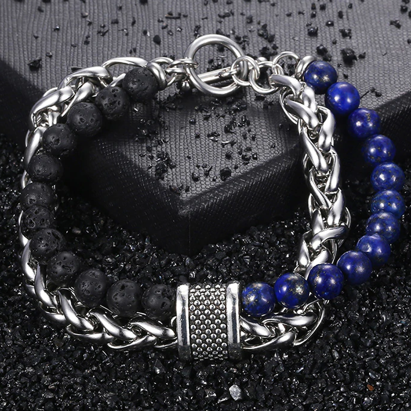 Men's Beaded Bracelet (3 colors) - RinmakStyle