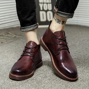 Leather Breathable Boots ( 2 colors) - RinmakStyle