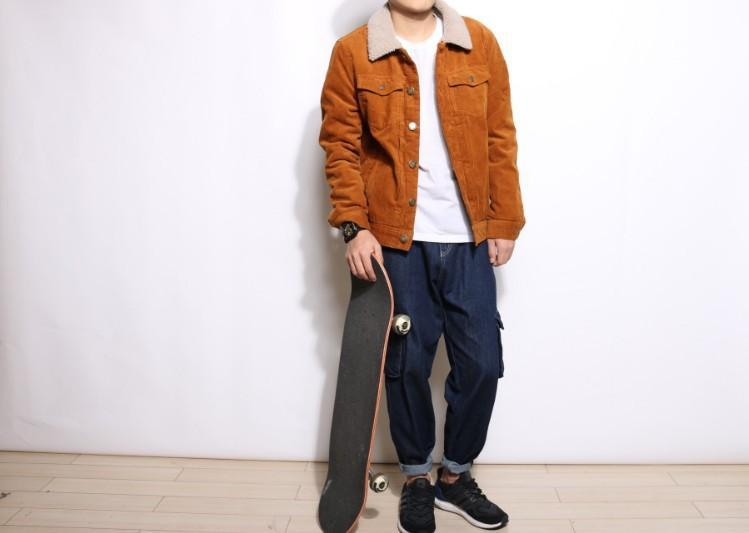 Fashion Corduroy Jacket (2 colors) - RinmakStyle