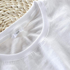 Linen T-shirts Feathers (2 colors) - RinmakStyle