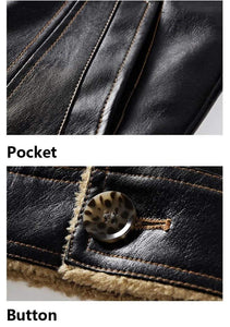 Winter Leather Jacket (3 colors) - RinmakStyle