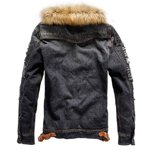 Denim Warm Jacket (2 colors) - RinmakStyle