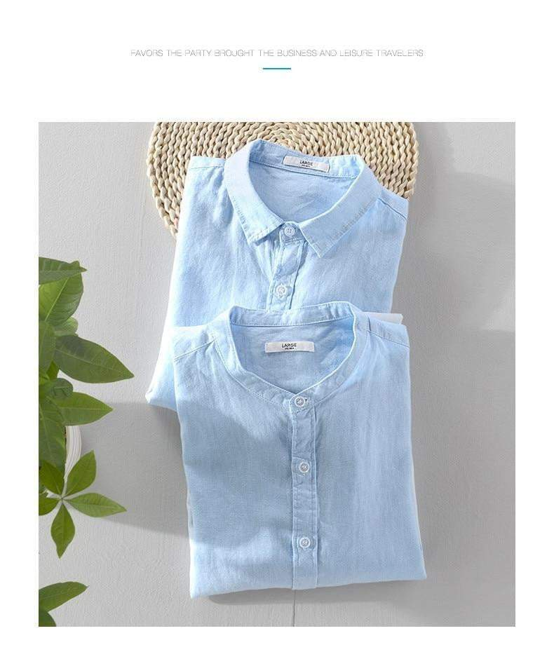 Men's Summer Linen Shirts - RinmakStyle