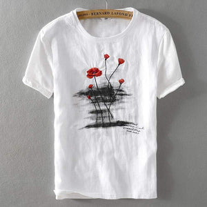 Linen Fashion T-shirt (2 colors) - RinmakStyle