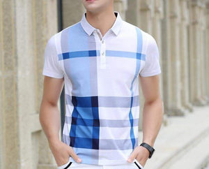 Fashion Plaid Polo (3 colors) - RinmakStyle