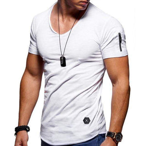 Men's Summer T-Shirts V-Neck - RinmakStyle