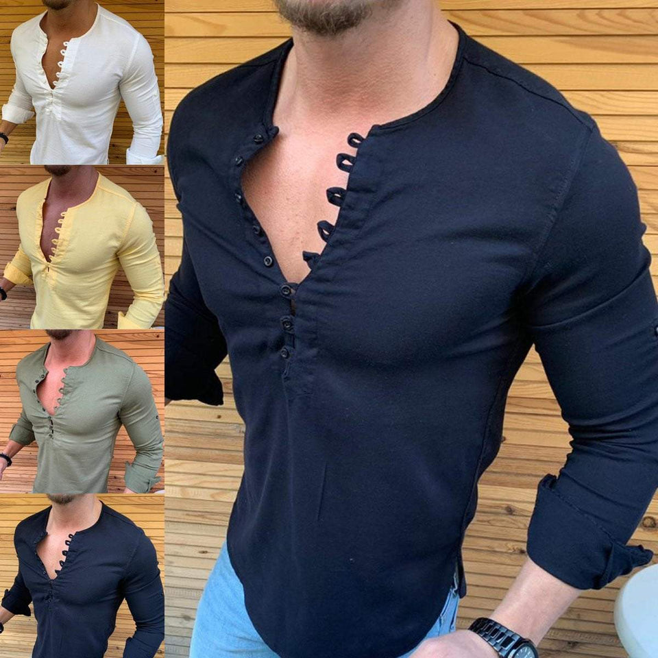 Summer Slim Shirts (4 colors) - RinmakStyle