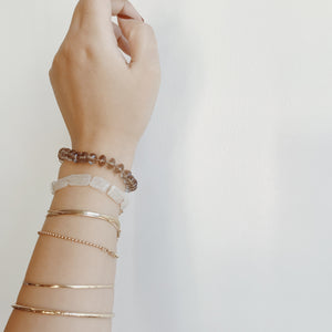 GEMME BRACELET - CREAM QUARTZ