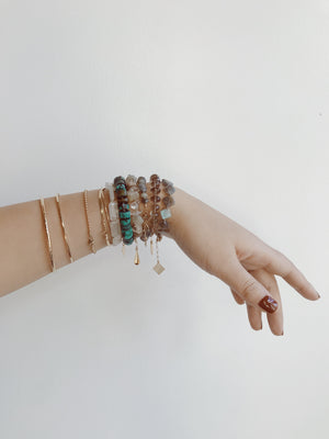 GEMME BRACELET - FACETED SMOKY QUARTZ