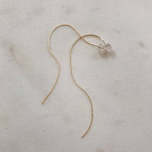 10KT GOLD FAIRY FLOSS CHAIN EARRING (SINGLE)
