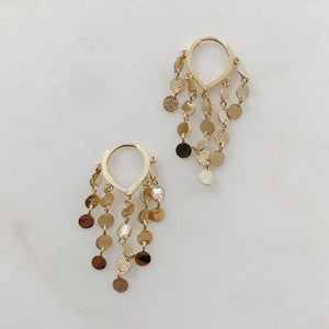 GENEVIEVE 10KT SEQUINED HOOPS