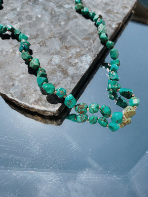 GEMME NECKLACE - TURQUOISE NUGGETS