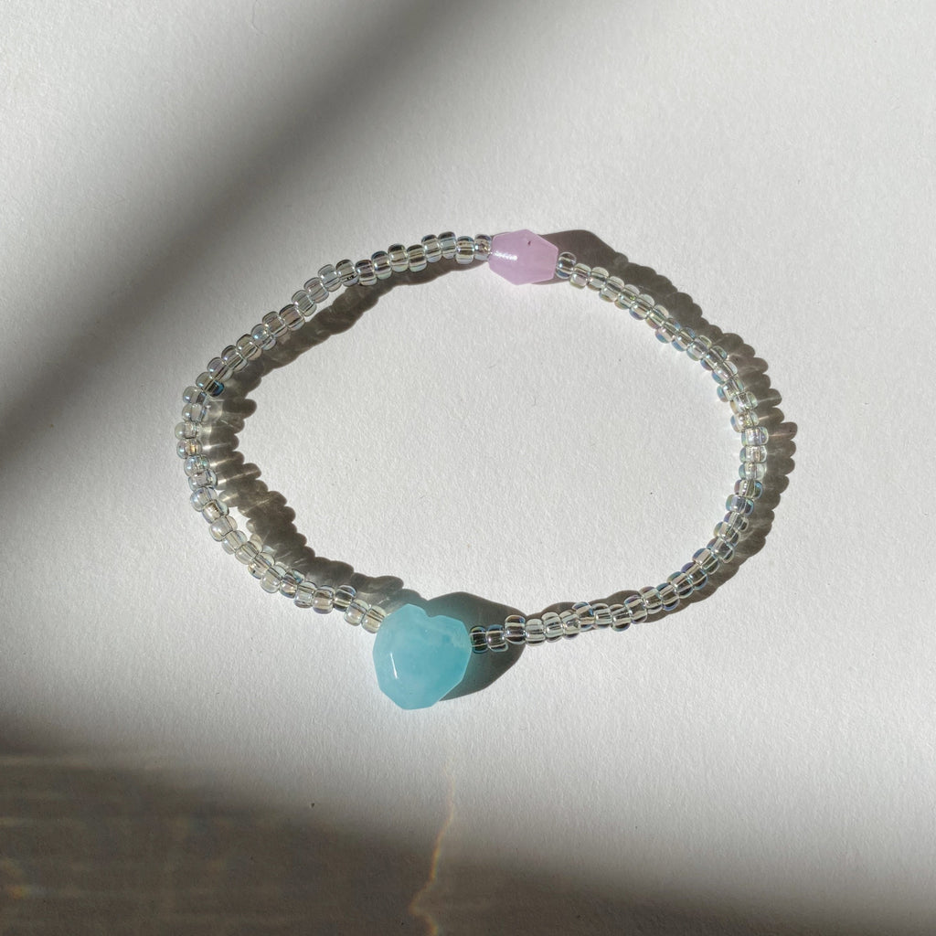 SWEETHEART BRACELET - BLUE COTTON CANDY