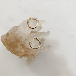 AURORA 10KT WAVE CLICKER HOOP EARRINGS