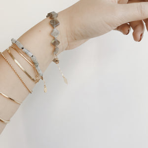 GEMME BRACELET - TOURMILATED QUARTZ TUBES