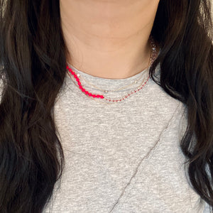 SO KNOTTY BEADED NECKLACE - ELECTRIC EEL