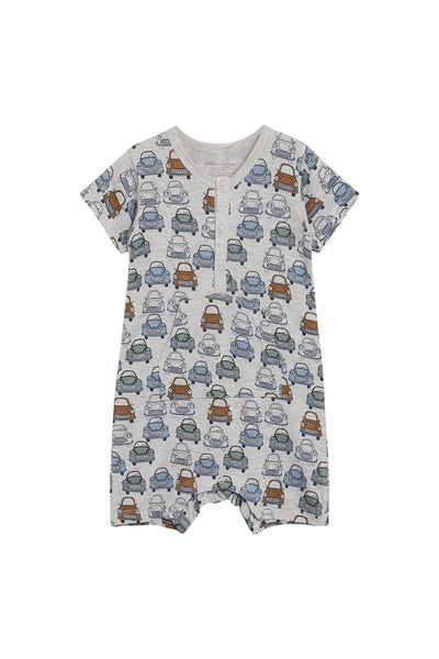 Overall/Romper: Autos (Bambus) - Hust&Claire