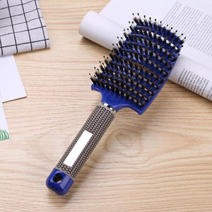 Hairbrush - Massage Angled No Tangle Hairbrush  Salon Hairdressing  Tools