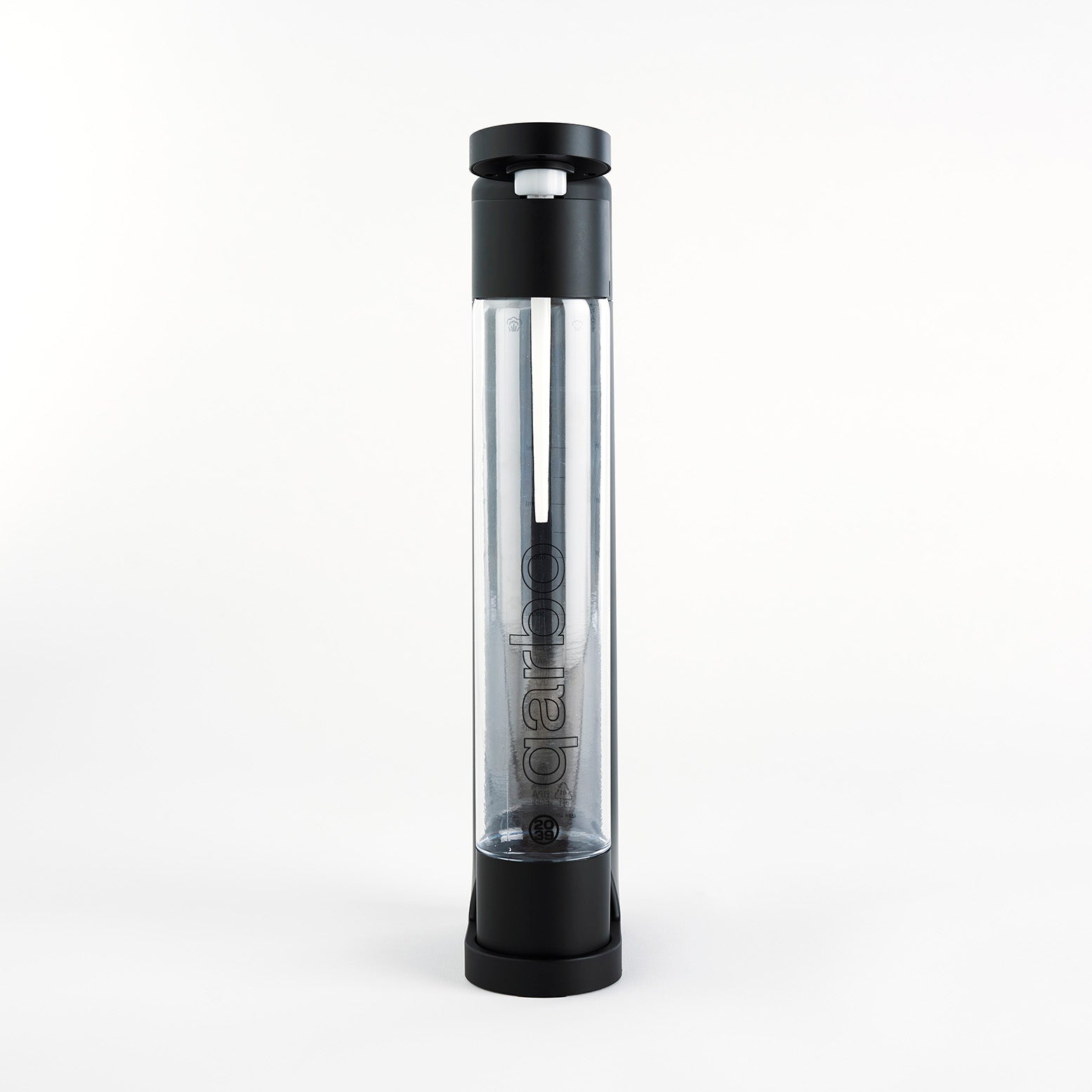 qarbo Sparkling Water Maker and Fruit Infuser (AU/NZ) - Matte Black - with Two x 1L BPA-Free Bottles