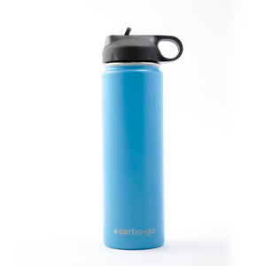 qarbo•go insulated double-wall stainless steel bottle (650ml) - Blue