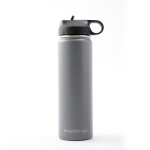 qarbo•go insulated double-wall stainless steel bottle (650ml) - Charcoal