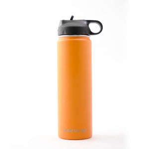 qarbo•go insulated double-wall stainless steel bottle (650ml) - Orange