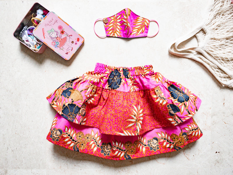 Girl MASKirt Pink unique size (2-4 yo)