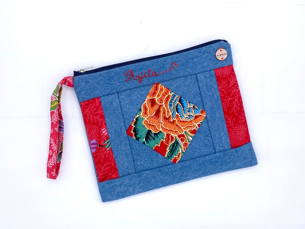 Upcycled Batik Personalized Handbag