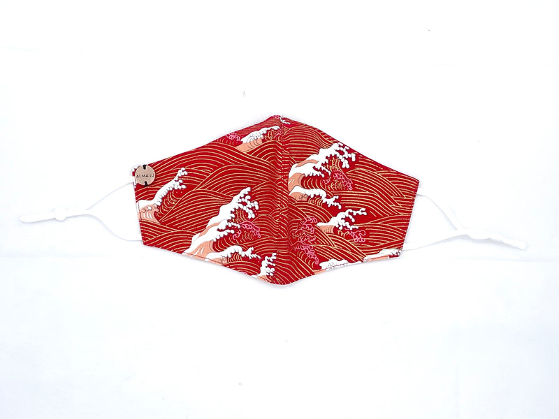 Man Limited Edition Waves Reversible Red Cotton