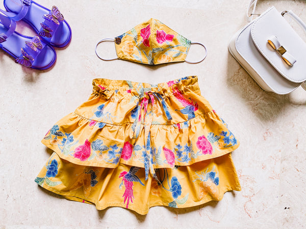 Girl MASKirt Yellow unique size (5-8 yo)