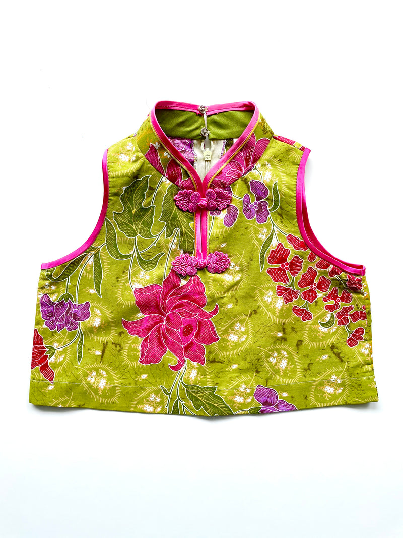 Girl Green Batik Top (3-4 yo)