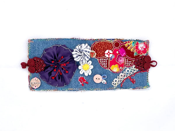 Fiona hand embroidered cuff