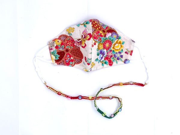 Limited Edition CNY Flowers & Butterflies with filter pocket and Crochet Chain