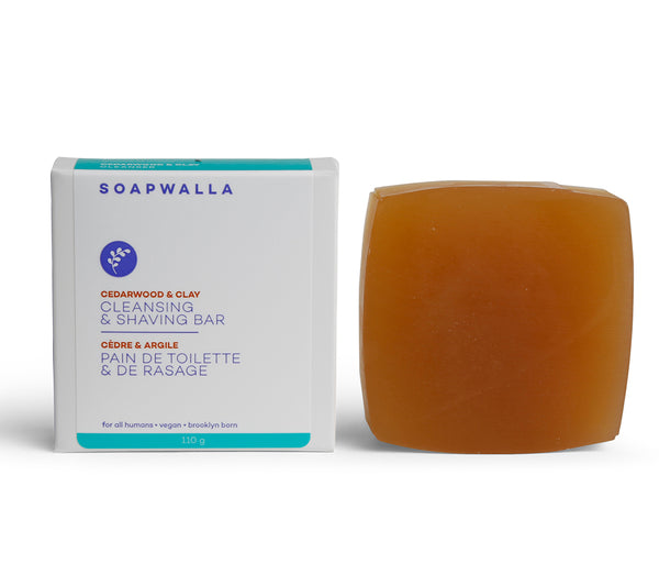 Soapwalla Cedarwood & Clay Cleansing & Shaving Bar
