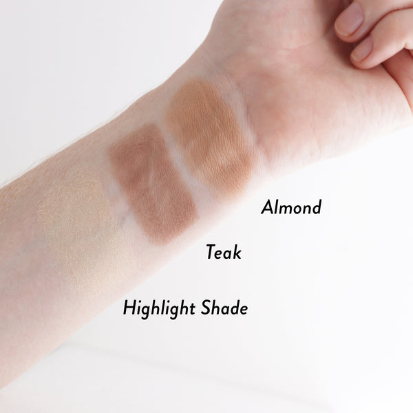 Inika Baked Contour Highlight Duo Swatches