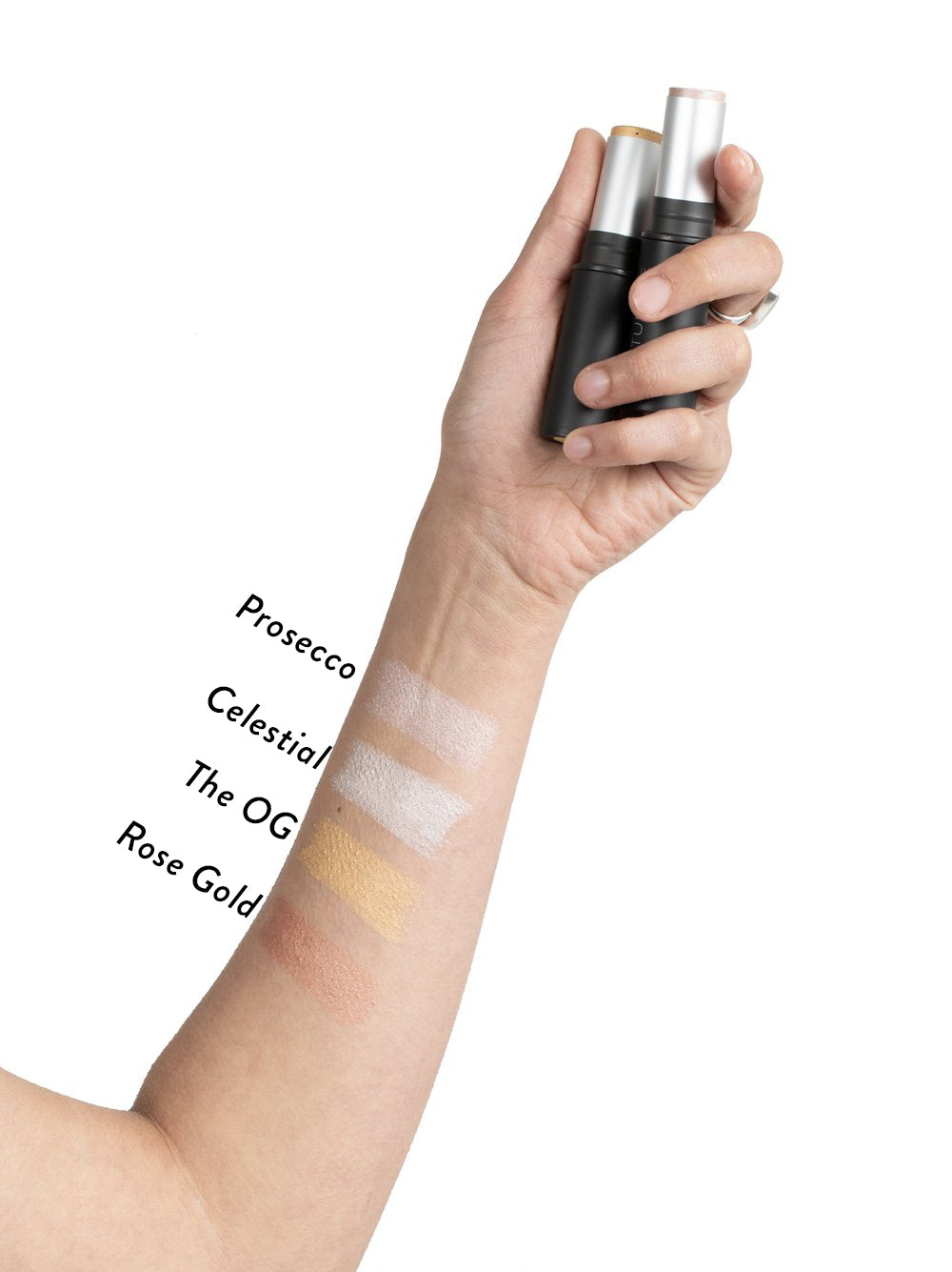 Au Naturale The All-Glowing Creme Highlighter Swatches