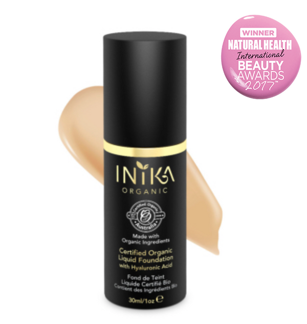 Inika Certified Organic Liquid Mineral Foundation with Hyaluronic Acid