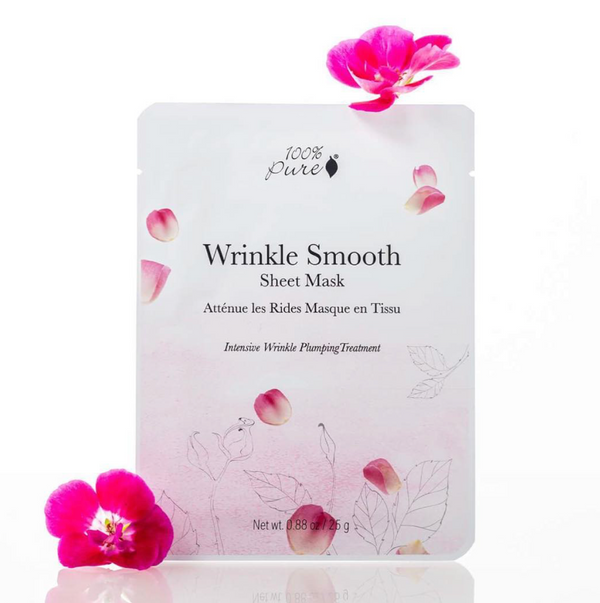 100 Percent Pure Wrinkle Smooth Sheet Mask