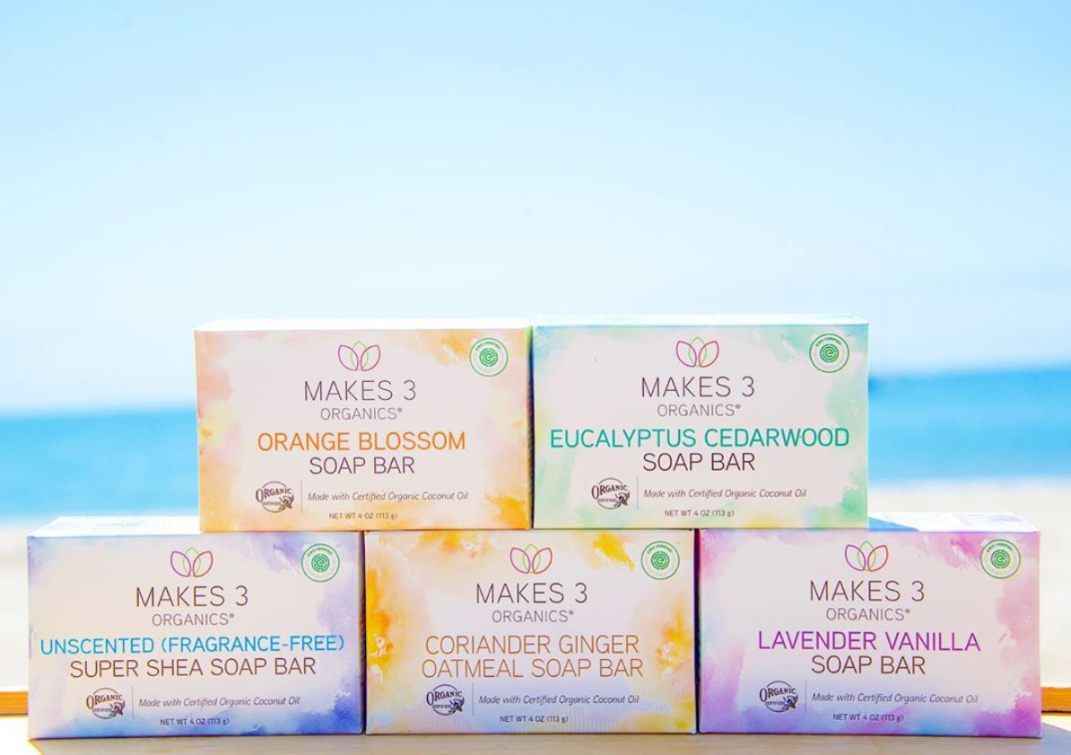 Makes 3 Organics EWG Verified Organic Soap Bar