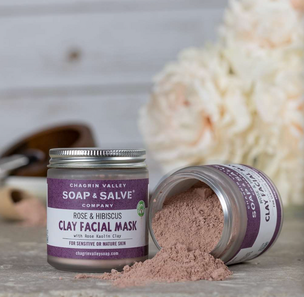 Chagrin Valley Soap & Salve Rose & Hibiscus Clay Face Mask