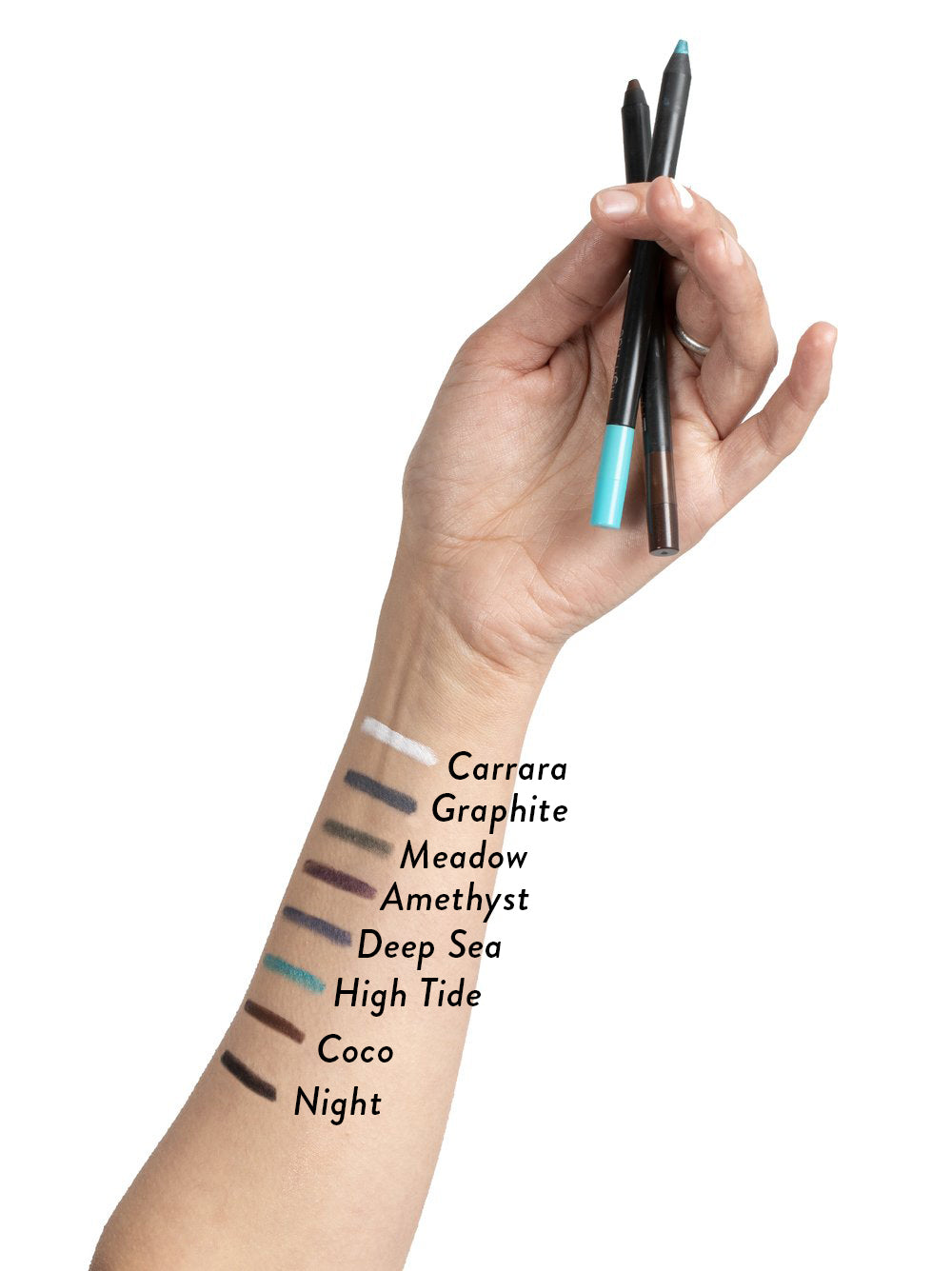 Au Naturale Swipe-On Essential Eye Pencil Swatches